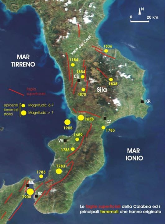 Terremoti, la terra continua a tremare in CalabriaNella notte otto scosse tra Reggino e Vibonese