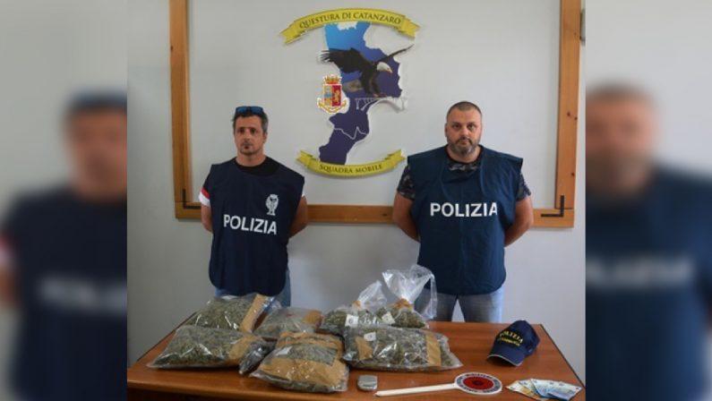 Quasi tre chili di marijuana nascosta in un garageDue persone arrestate e una denunciata a Catanzaro