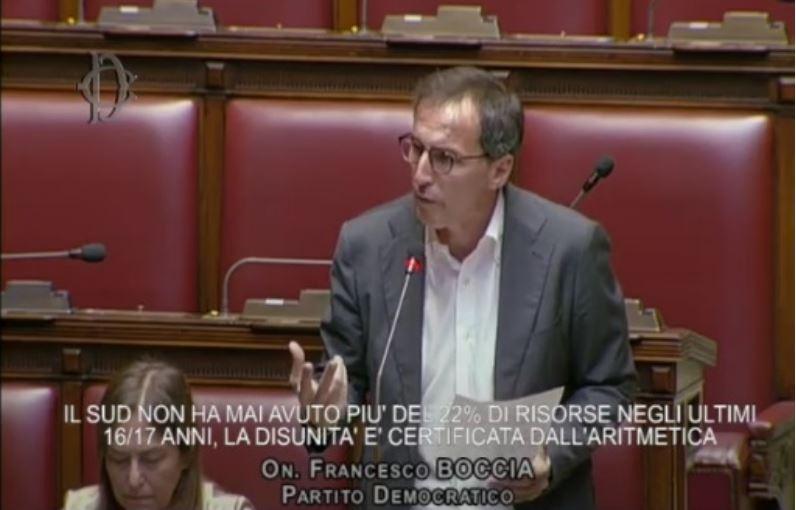 VIDEO – Francesco Boccia (PD) durante l'interpellanza parlamentare sullo Scippo al Sud