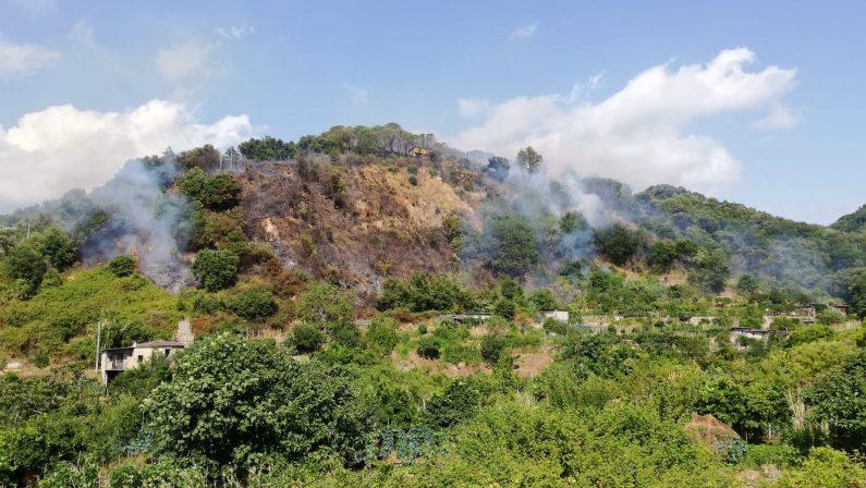 Vasto incendio divampa alle porte di Acquaro nel ViboneseSul posto i vigili del fuoco intervenuti dopo alcune ore