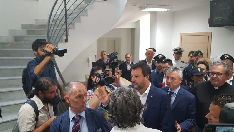 FOTO - Il vicepremier Matteo Salvini in Calabria per consegnare un bene confiscato alla 'ndrangheta