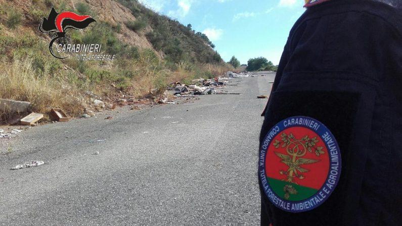 """Operazione """"Dirty Street"""", rifiuti speciali e pericolosi Sequestrato un intero tratto di strada nel Vibonese"""