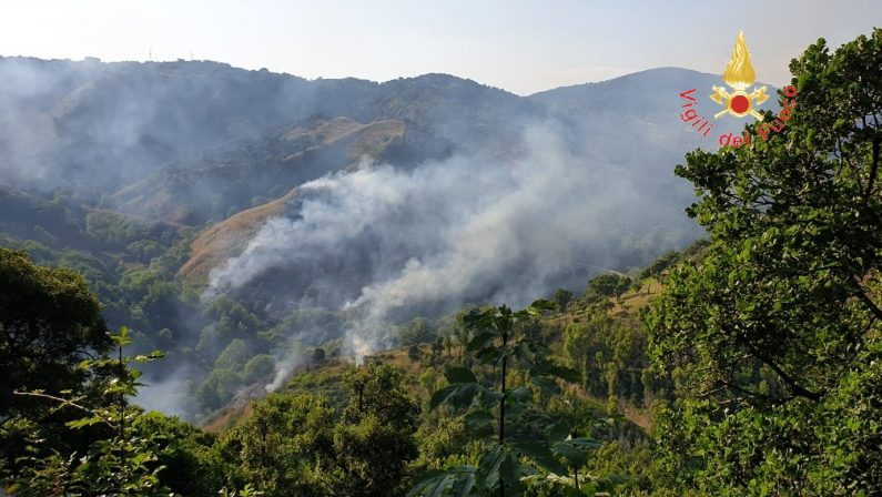 Temperature da record ed incendi in diverse zone dell'Irpinia