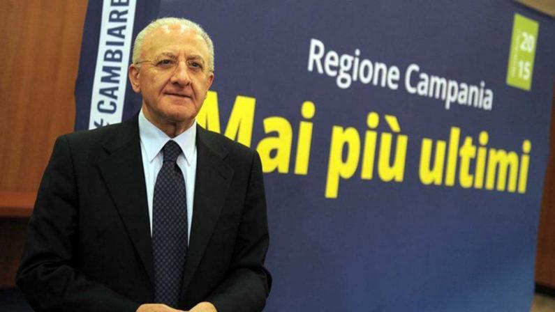 """Maxi-concorso, è già boom di iscritti De Luca: """"Operazione senza precedenti"""""""
