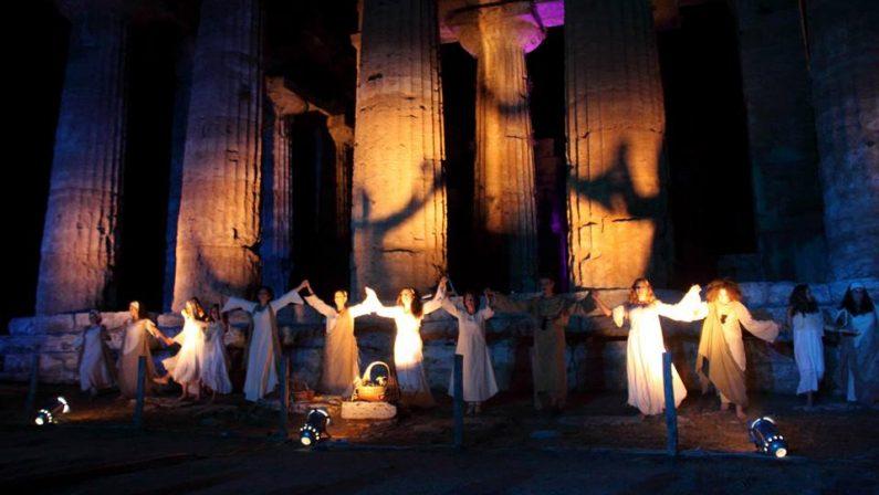 """Al Parco Archeologico di Paestum IX° Rassegna Teatrale estiva """"…dal mito a + ∞"""""""