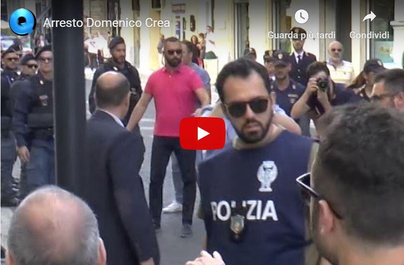 VIDEO – Arresto di Domenico Crea  L'arrivo del latitante in Questura