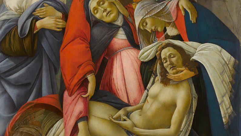 """Al Palazzo Zevallos di Napoli, in mostra il capolavoro""""Compianto sul Cristo Morto"""" di Botticelli"""