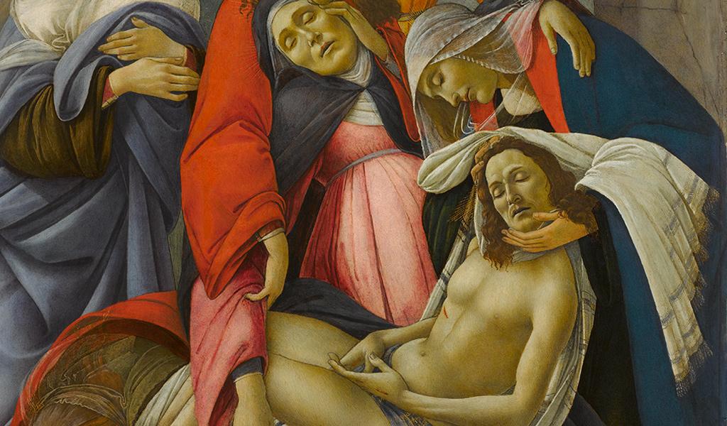 """Al Palazzo Zevallos di Napoli, in mostra il capolavoro:  """"Compianto sul Cristo Morto"""" di Botticelli"""