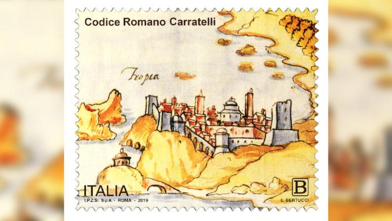 Francobollo e annullo postale per il Codice Romano CarratelliIl valore bollato ritrae alcune delle fortificazioni della costa calabrese