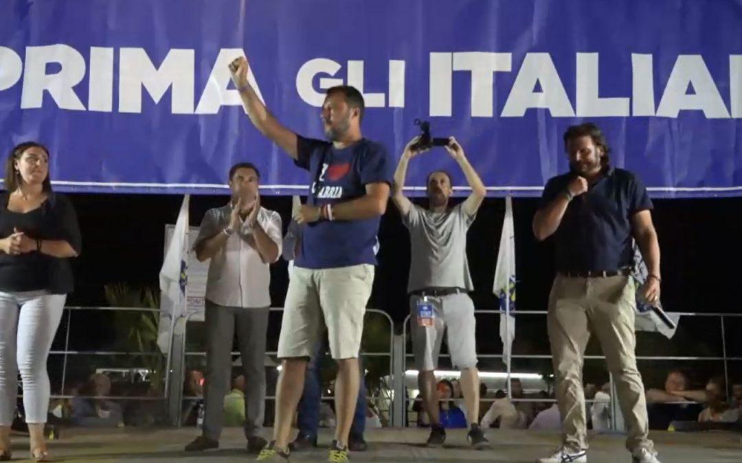 VIDEO – Il comizio di Matteo Salvini a Soverato