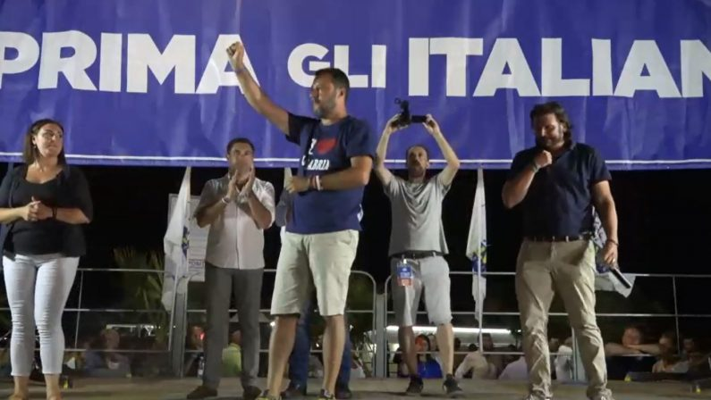 VIDEO - Il comizio di Matteo Salvini a Soverato