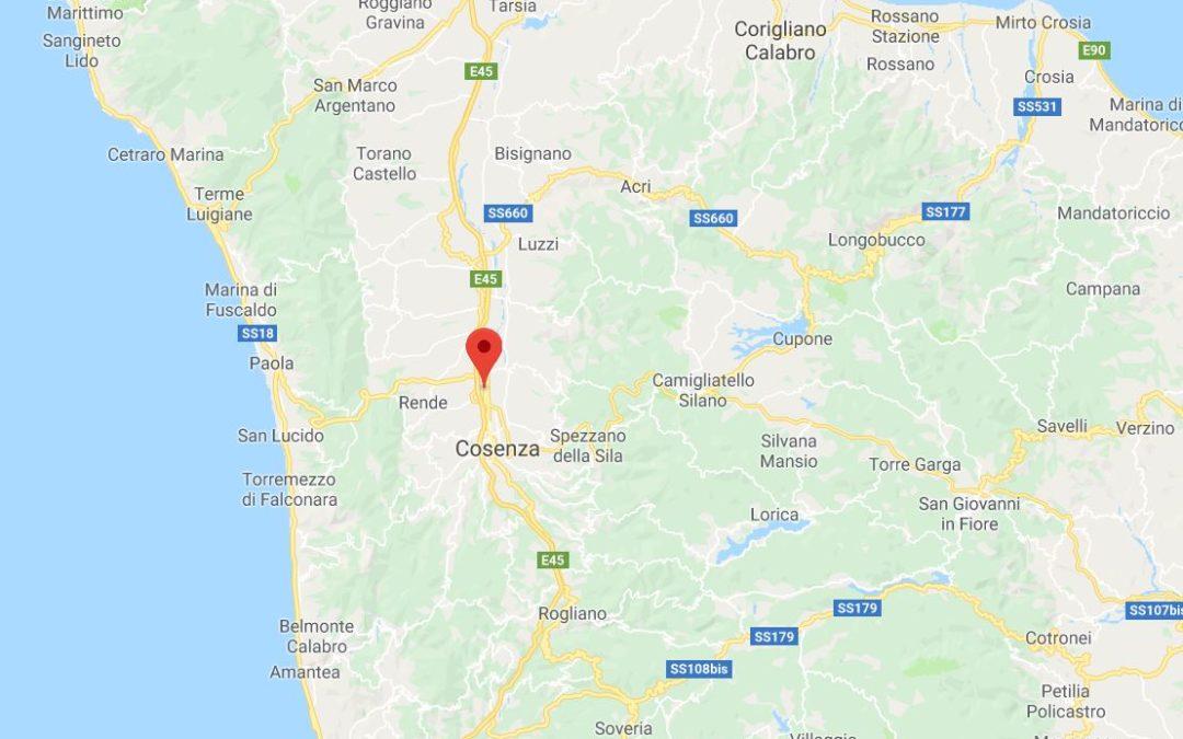 Scossa di terremoto nel Cosentino  Registrata una magnitudo di 2.6