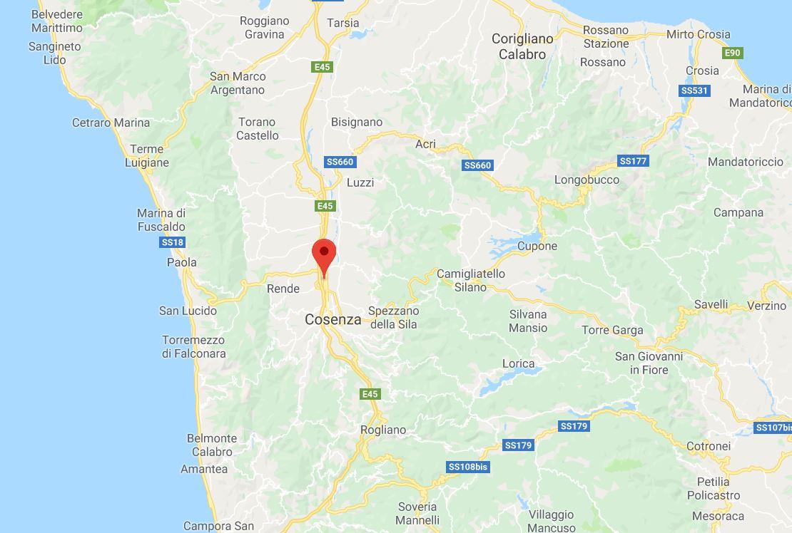 Scossa di terremoto nel CosentinoRegistrata una magnitudo di 2.6