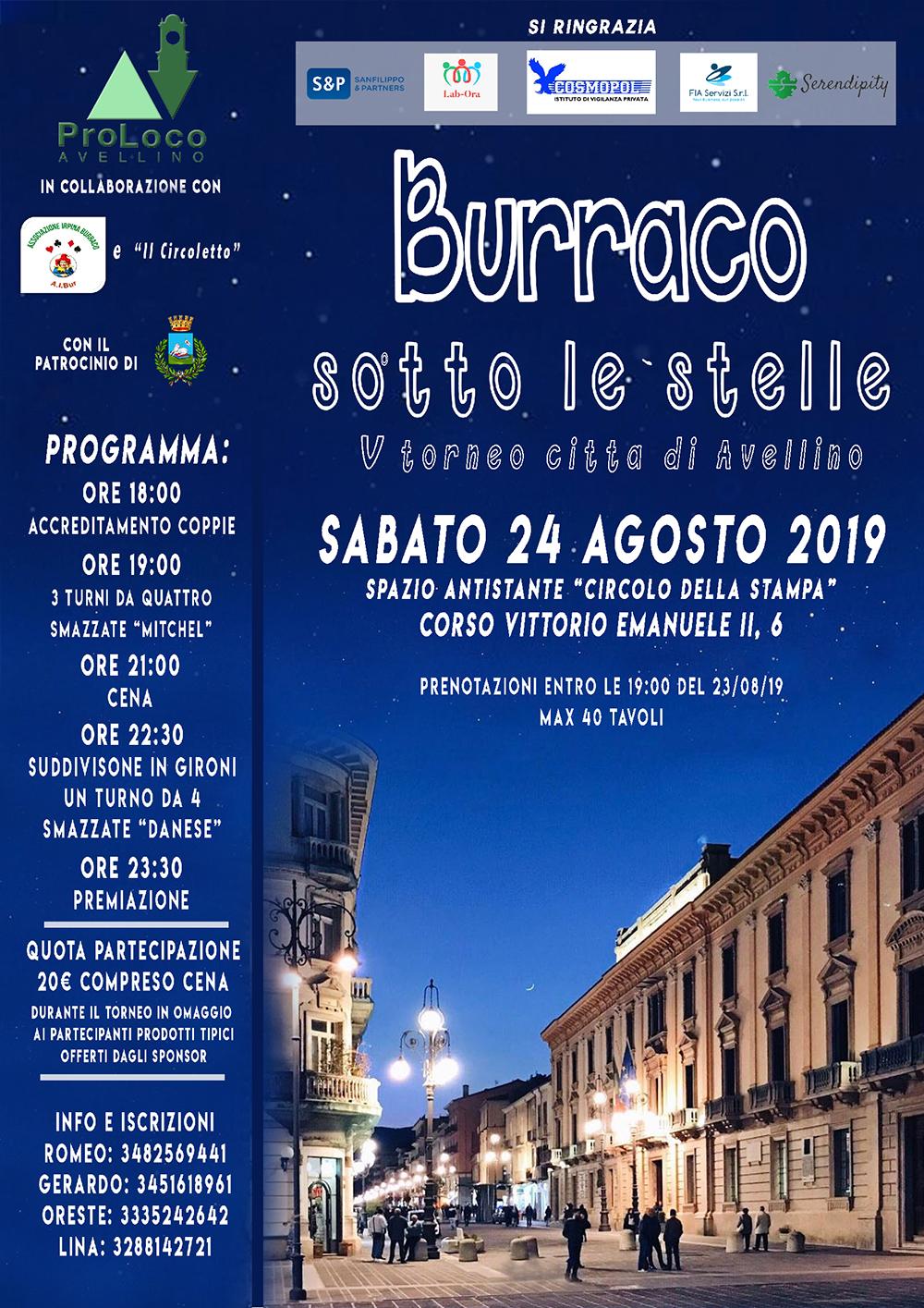 """Avellino, torna il torneo """"Burraco sotto le stelle"""""""