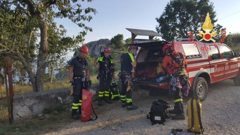 Giovane scomparso, impiegati vigili del fuoco calabresiL'escursionista francese trovato morto domenica sera