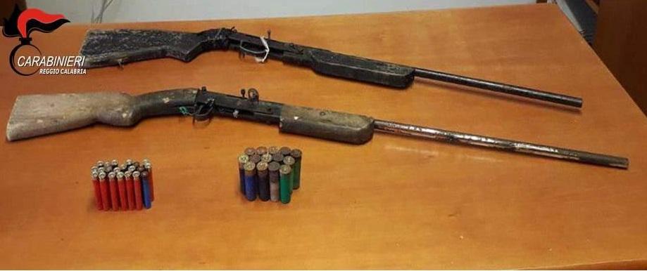 Criminalità, armi e munizioni sequestrate dai carabinieri nella Locride