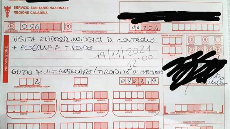 Sanità lumaca in Calabria, a Vibo 830 giorni per una visita di controllo