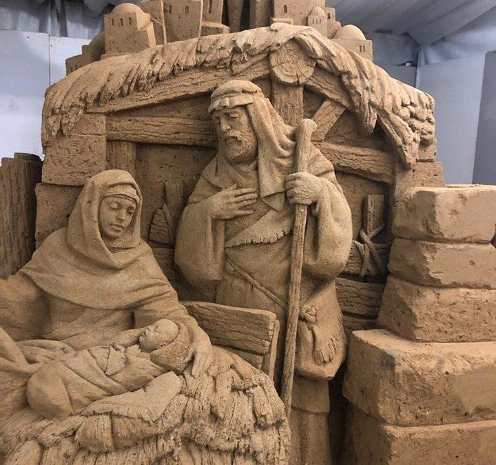 Il Presepe di sabbia nel centro di Catanzaro: l'iniziativa internazionale per il Natale
