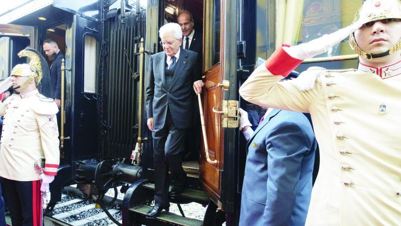 Cerimonia per il 180mo anniversario della prima linea ferroviaria della Penisola