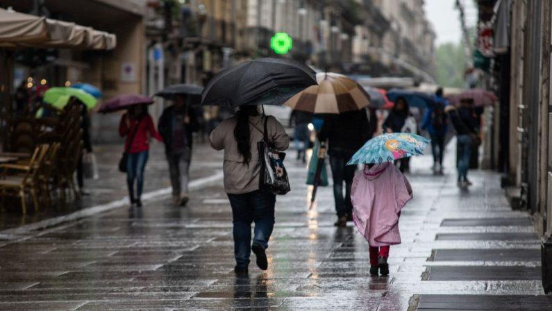Meteo: pioggia e temperature più basse, cambia il clima anche in Calabria
