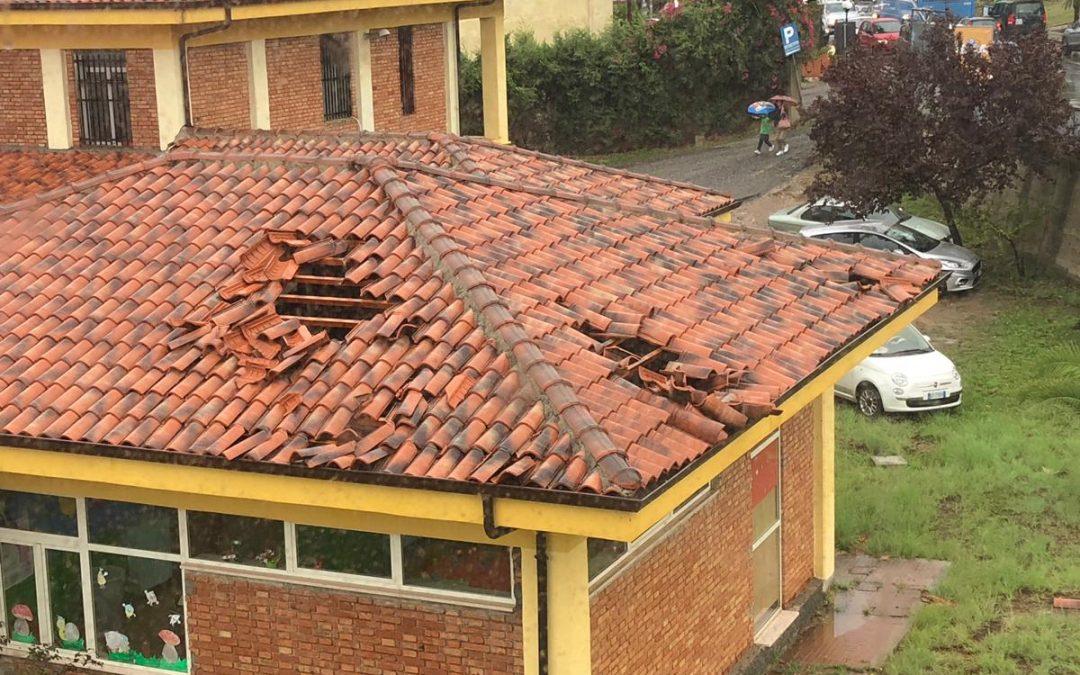 Tromba d'aria a Pizzo, danneggiati anche il Comune e una scuola