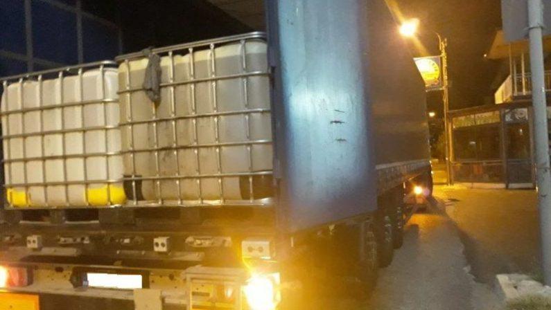 Sequestrati 26.000 litri di gasolio di contrabbando nel Cosentino, 2 arresti