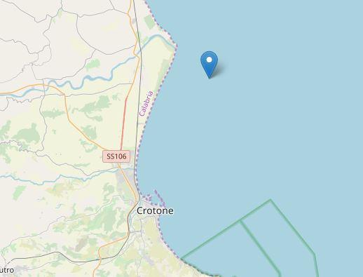 Terremoto davanti al litorale di Crotone: magnitudo 3.7, avviati accertamenti