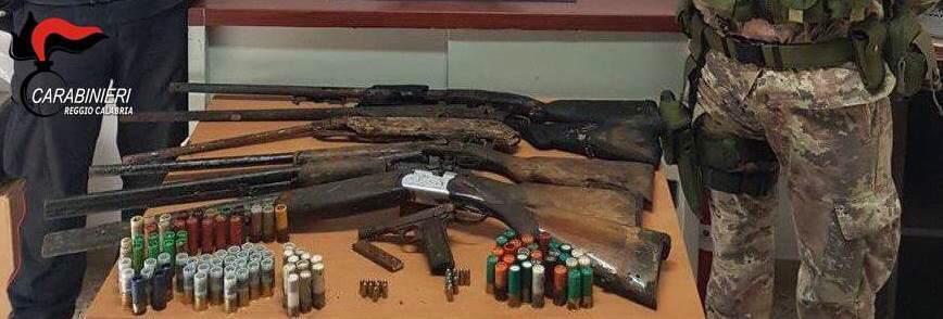 Armi e droga sequestrate nel Reggino dai carabinieri