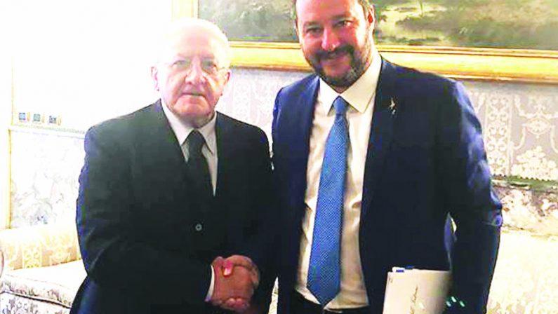 Regionali: De Luca, Salvini scelga dove e quando confrontarci