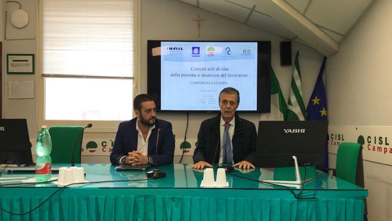 Cisl Campania: corretti stili di vita e sicurezza sul lavoro