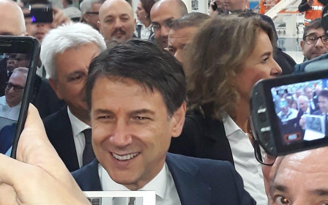 Il premier Giuseppe Conte a Melfi