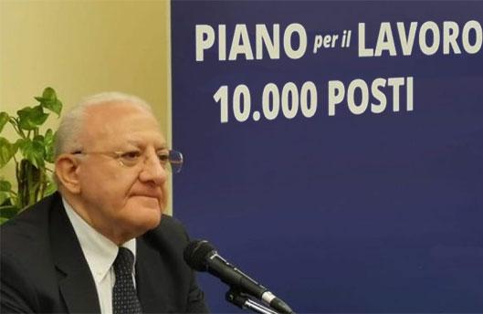 Concorsone, c'è il ricorso De Luca: a marzo andranno a lavorare i primi tremila giovani