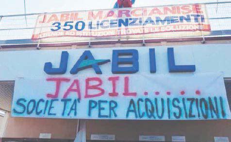 Jabil, al via i licenziamenti