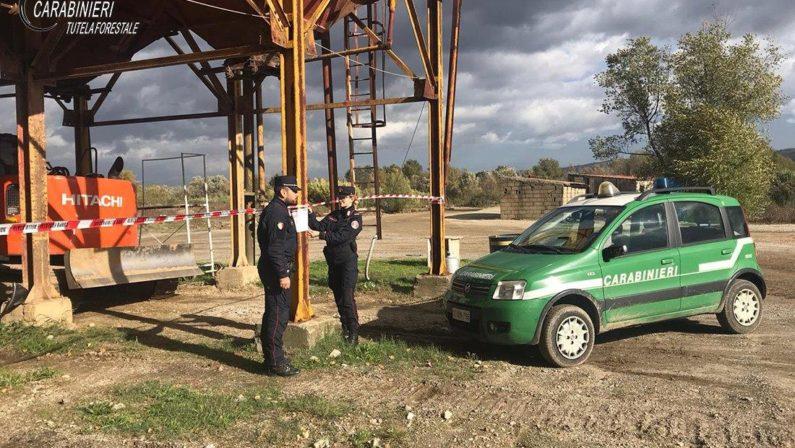 Sequestrati nel Cosentino due impianti di calcestruzzo realizzati su area demaniale