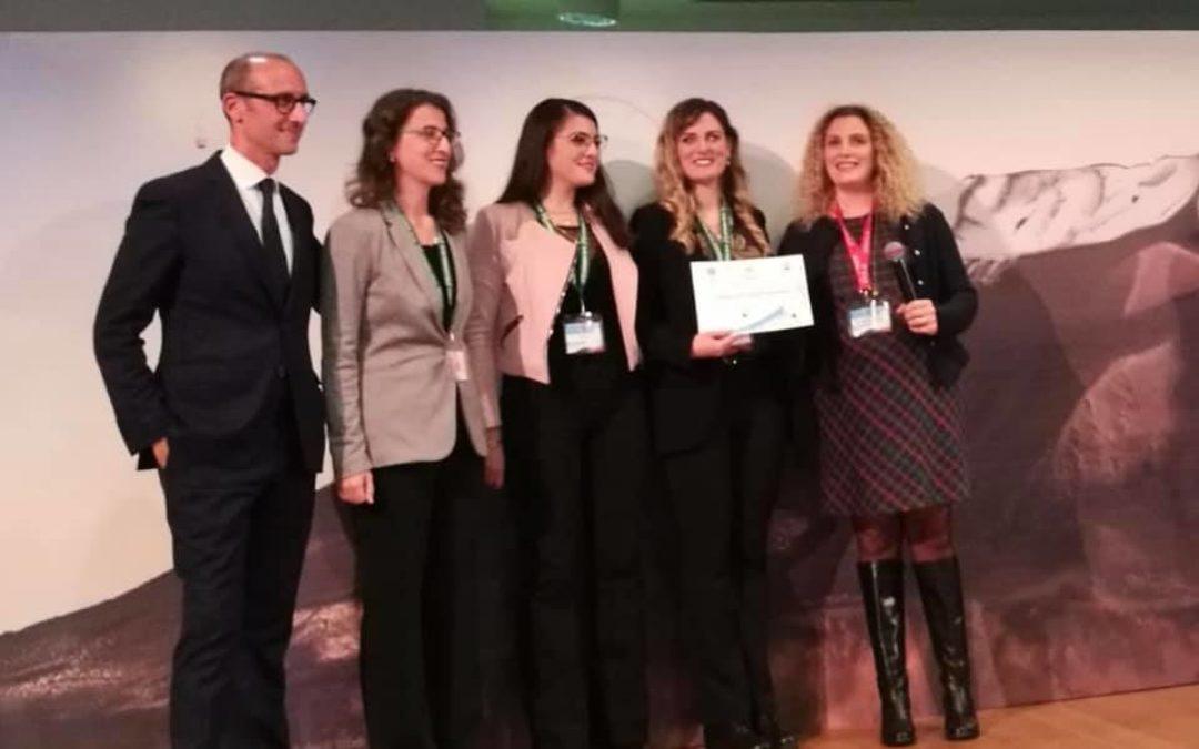 Il team durante la premiazione a Catania
