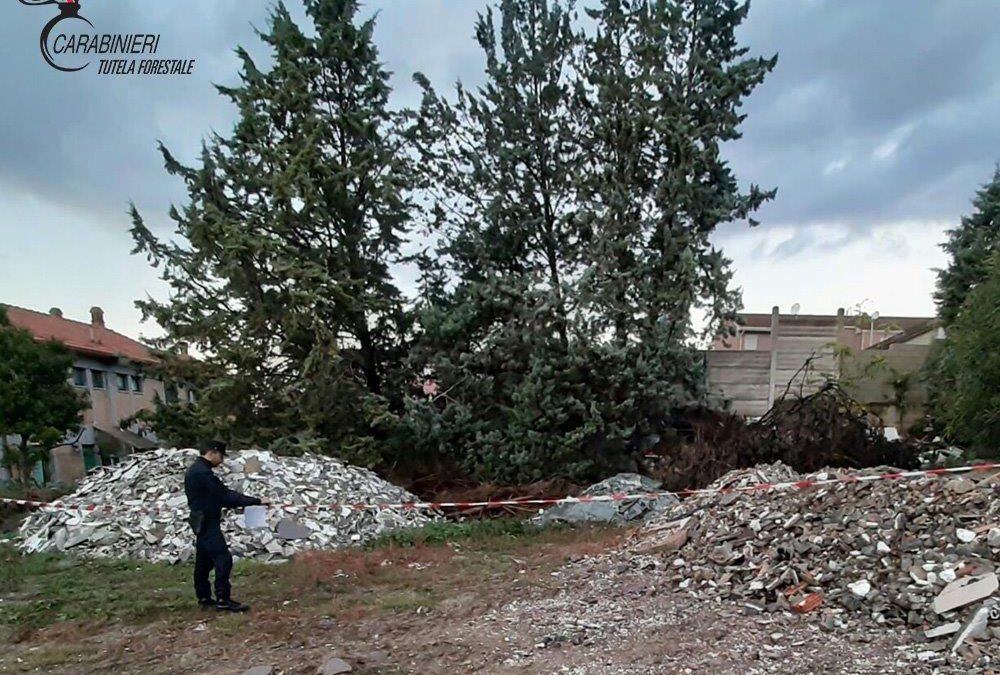Sequestrati 300 metri cubi di rifiuti su un cantiere per la ristrutturazione di una scuola nel Cosentino