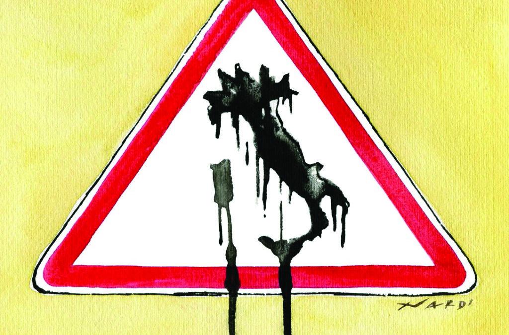 Una vignetta  emblematica sul dissesto idrogeologico tratta da Greenreport