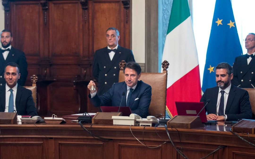 Una riunione del Consiglio dei Ministri