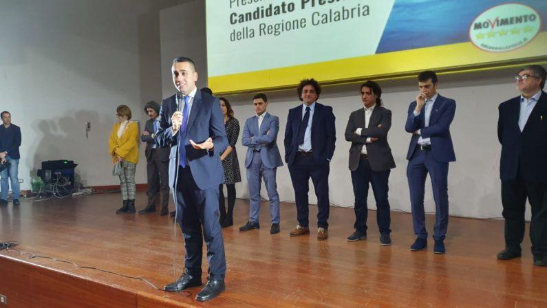 Di Maio a Catanzaro presenta Aiello: «Mandiamo via chi chiede il voto da vent'anni»