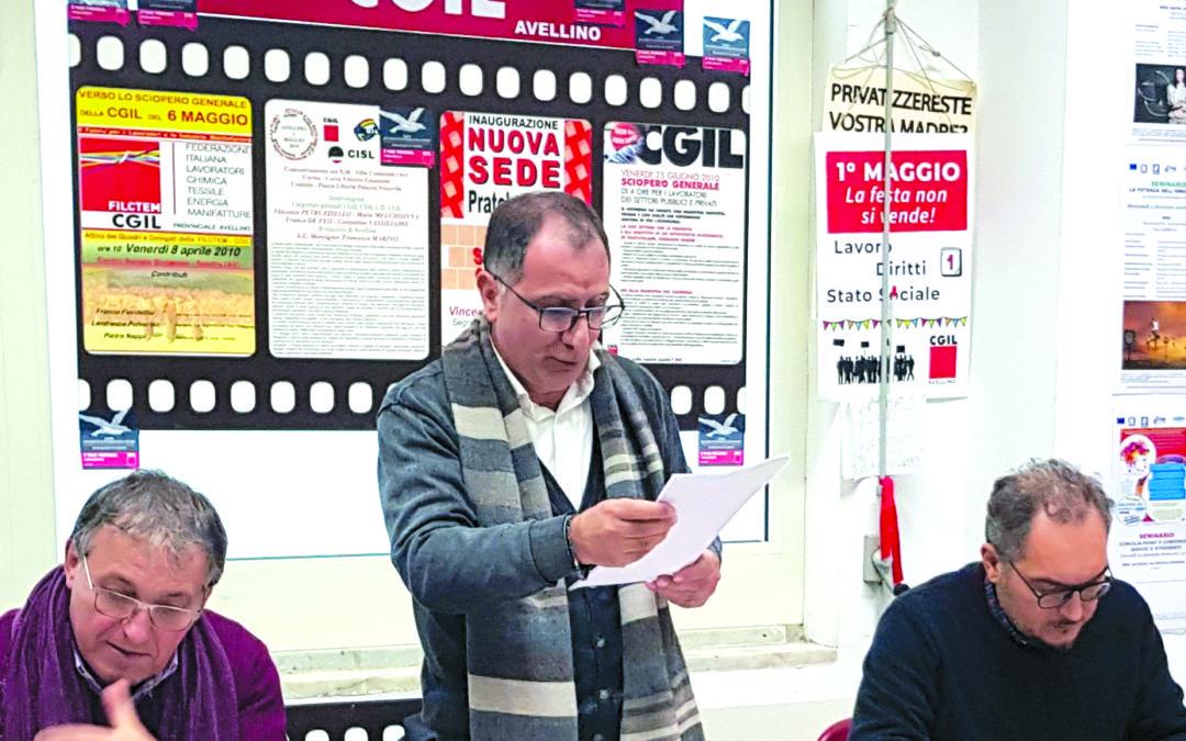 Vertenza Irpinia, appello a Conte dal direttivo della Fillea Cgil
