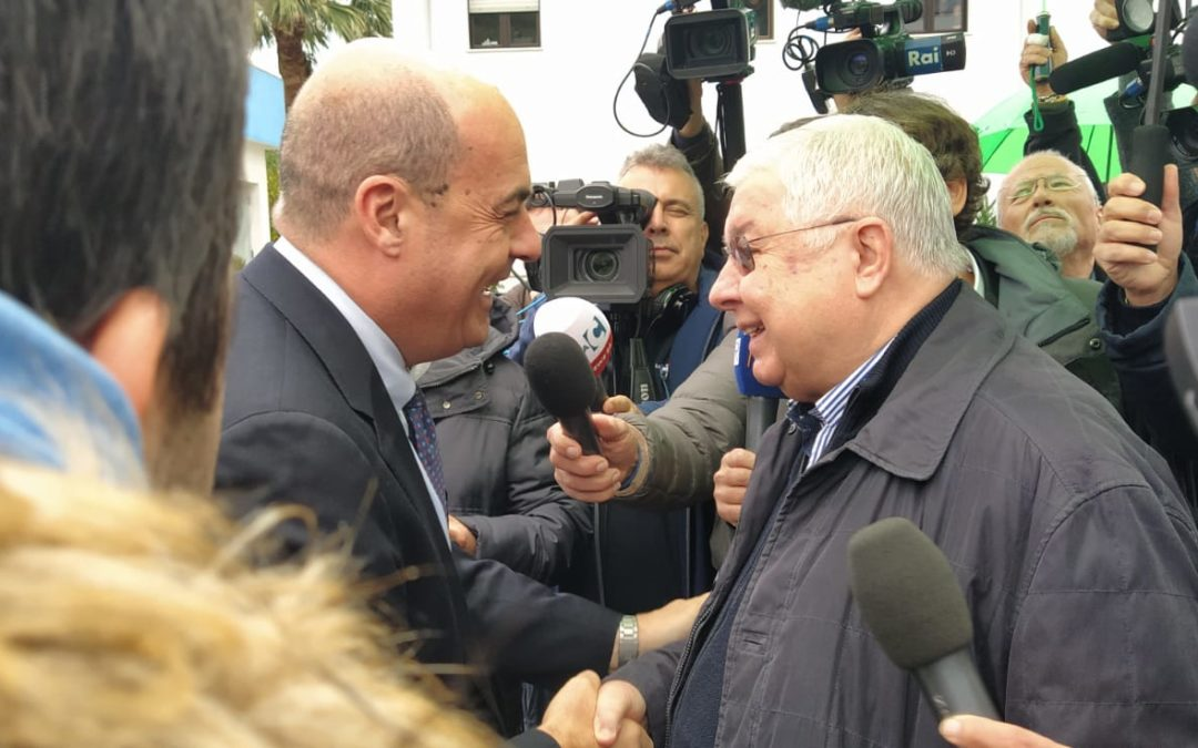 Elezioni regionali, Zingaretti in Calabria: «Con Callipo per la legalità»