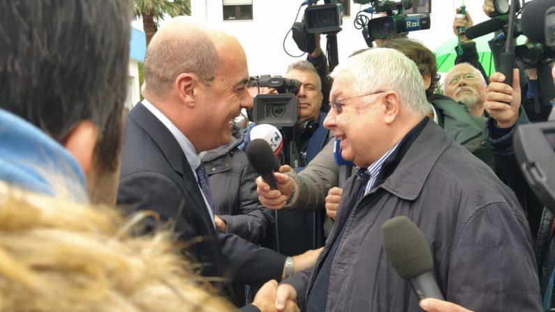 Pd, il segretario nazionale Zingaretti arrivato in Calabria per incontrare Callipo LE FOTO