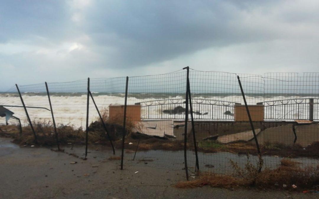 I danni di una precedente ondata di maltempo in Calabria