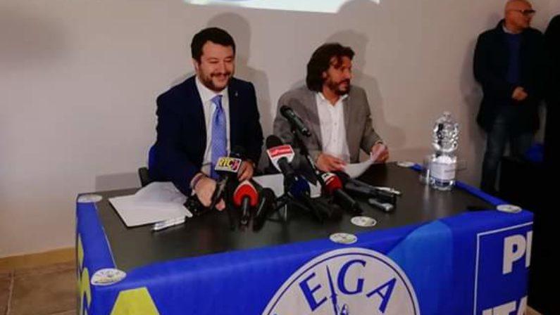 Salvini a Catanzaro: «Privilegeremo i calabresi che vogliono tornare nella loro terra»