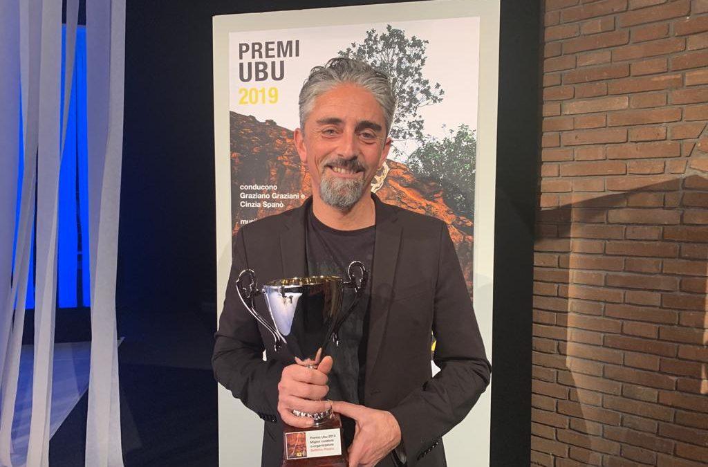 Settimio Pisano alla premiazione degli Ubu