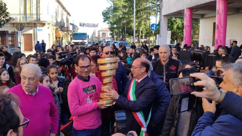 Mileto, partenza del Giro d'Italia: il Sindaco annuncia il percorso e chiarisce le motivazioni della scelta