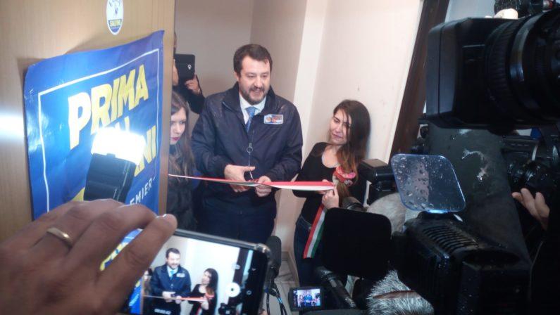 Salvini: «Non sento una Calabria piagnona. Callipo? Preferisco il tonno artigianale»