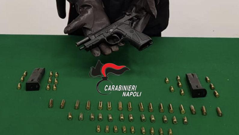 Sequestrata pistola e 60 proiettili nel rione Santa Caterina
