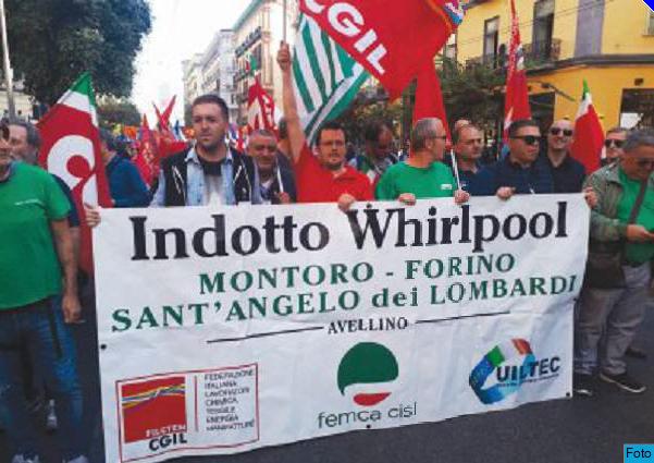 Whirpool, sedici ore di sciopero