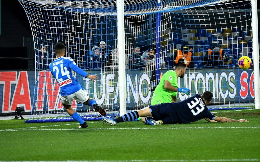 FOTO – Il Napoli vola in Coppa Italia battendo la Lazio, le immagini della vittoria